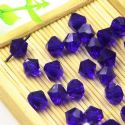 Beads, Auralescent Crystal, Crystal, Dark purple , Faceted Bicones, Diameter 8mm, 5 Beads, [ZZB060]